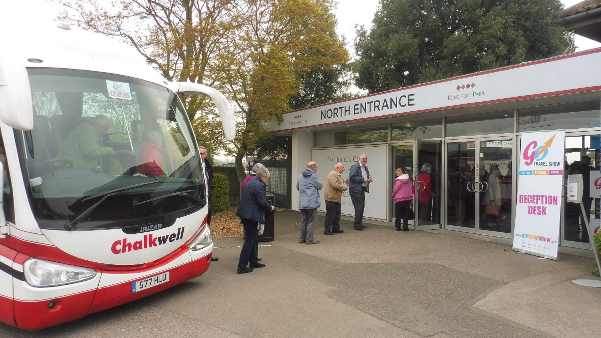 'Chalkwell Coaches' is just one of several coach companies who can drop you right outside the entrance to the 'GO Travel Show'