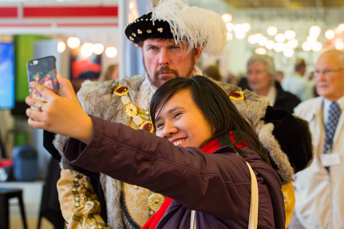 The GO Travel Show always provides fun and entertainment whilst you do business, especially when 'Black Night Historical' is involved!