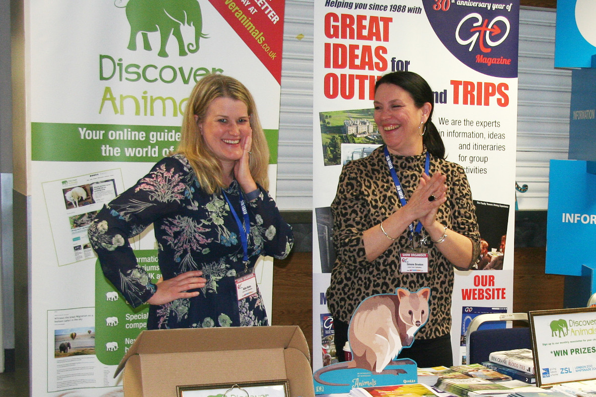 Both Abbe Bates and Simone Brookes do a wonderful job looking after the Discover Animals stand, so come and say hi!