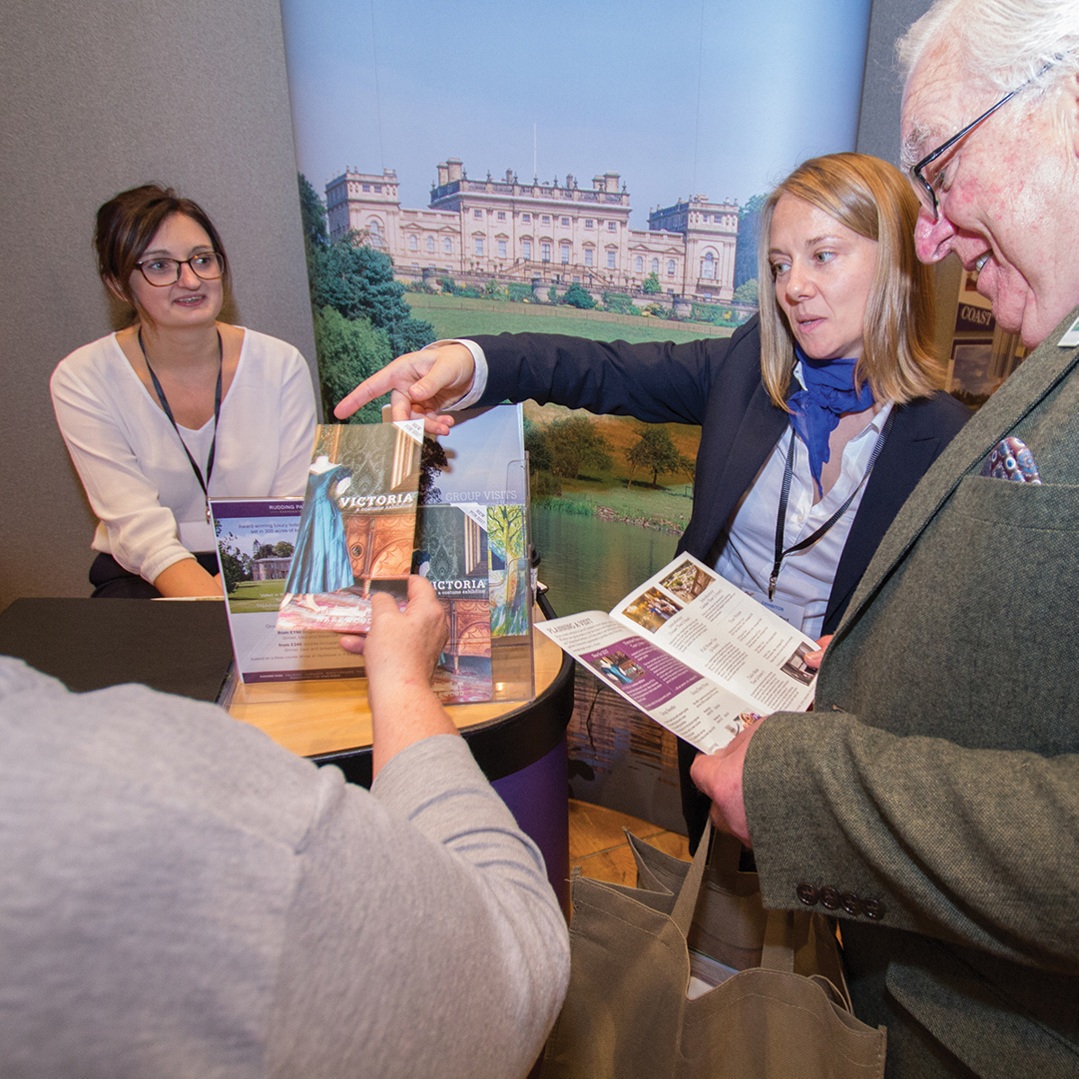 GTOs talking to exhibitors at our show in Leeds