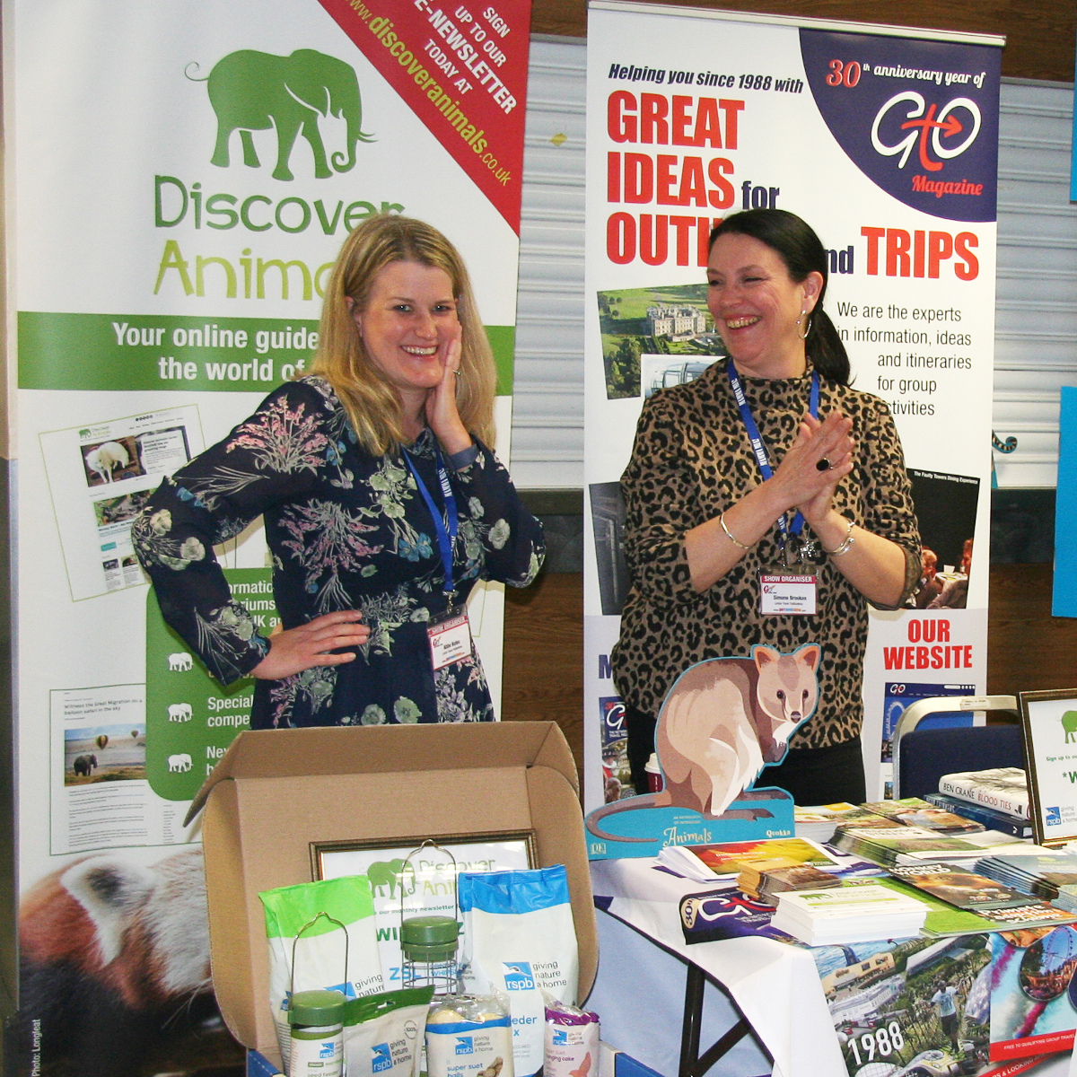 Both Abbe Bates and Simone Brookes do a wonderful job looking after the 'Discover Animals' stand, so come and say hi!